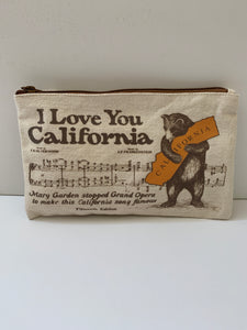 California Bear Hug Zipper Bag