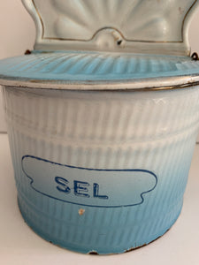 French Diffused Blue Salt Box