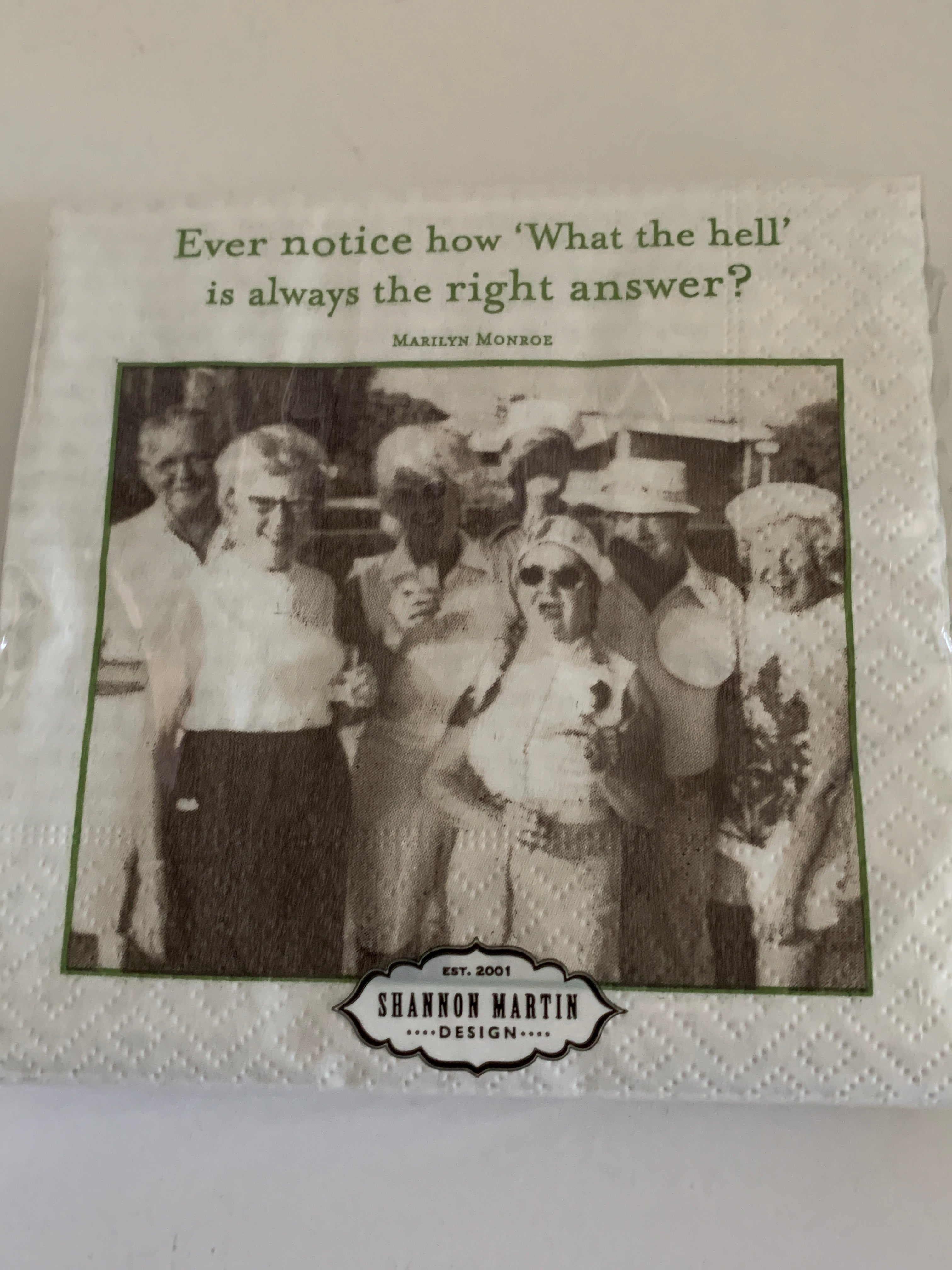 Beverage Napkins - What the Hell