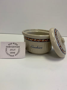 Red Wing Miniature Gray Line Cookie Jar