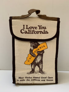 California Bear Hug Insulated Lunch  Bag
