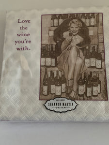 Beverage Napkins- Love the wine