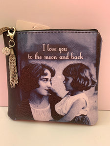 Coin Purse - Moon and Back
