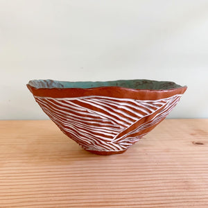 Pinched Carved Rice Bowl