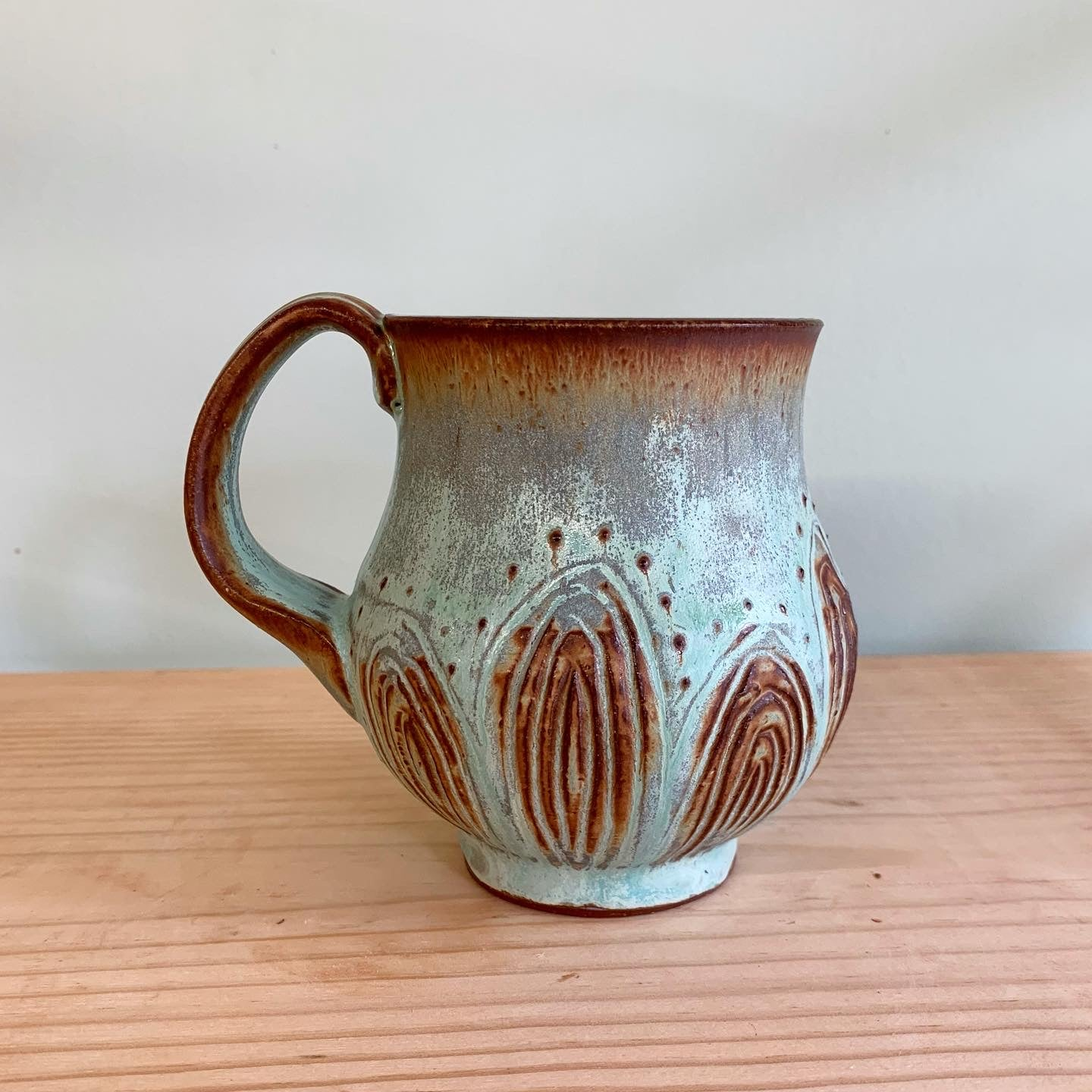 Copper Curvy Mug