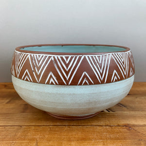Sky Blue Serving Bowl