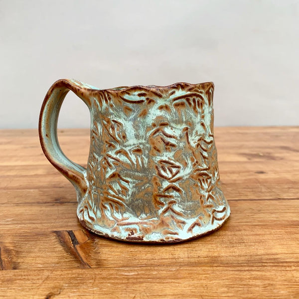 Stamped Copper Mug