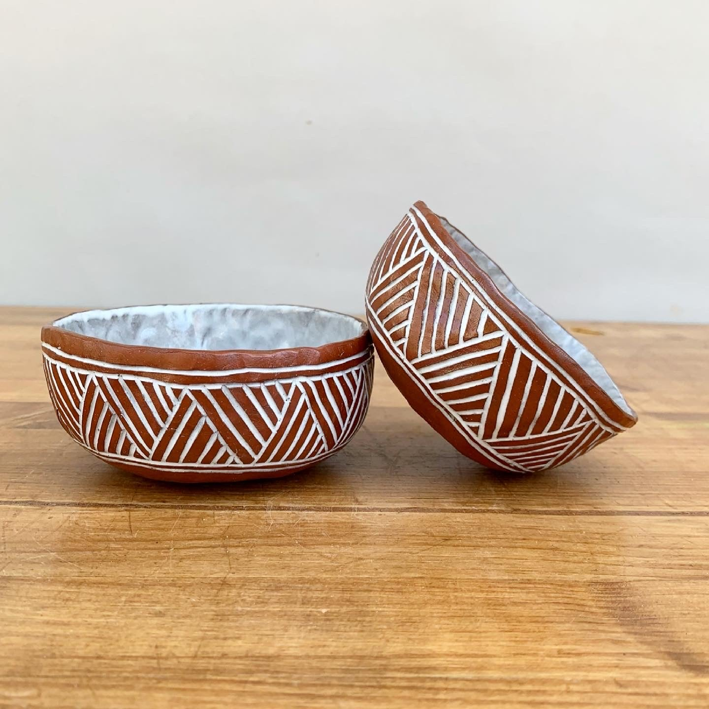 Pair of Small Pinched Bowls