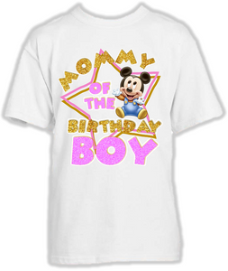 DESIGN070 - Birthday Baby Mickey Mouse Mom Mommy Mother T Shirt