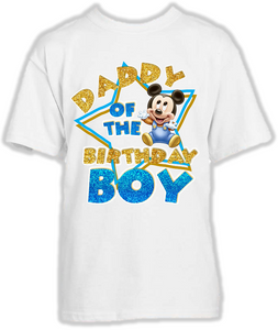 DESIGN069 - Birthday Baby Mickey Mouse Dad Daddy Father T Shirt