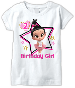 DESIGN203 - Birthday Girl Staci Boss Baby T Shirt or Baby Bodysuit