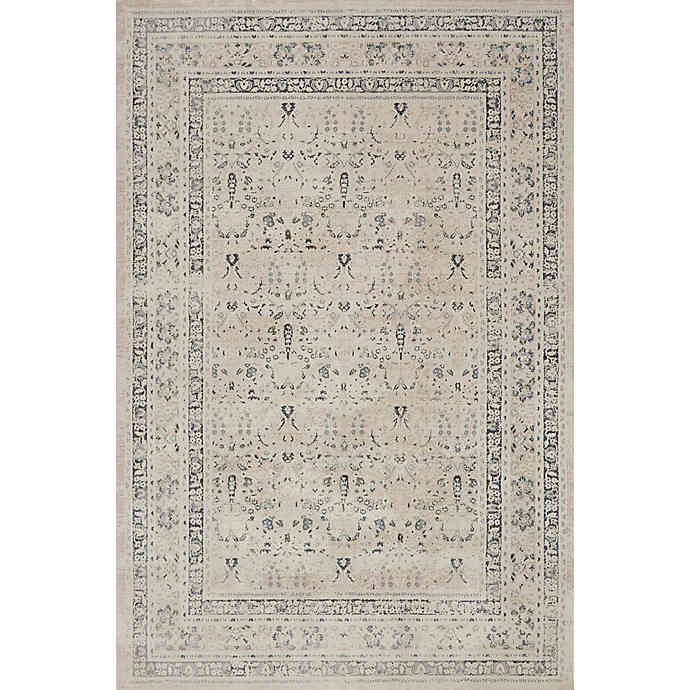 "Magnolia Home by Joanna Gaines Everly 6'7"" x 9'2"" area rug in ivory/sand"