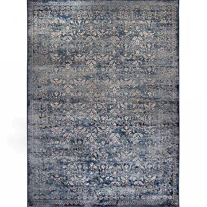"Verona Vintage 7'10 x 11'2"" area rug in blue"