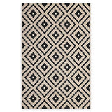Modway Perplex Indoor/outdoor 8' x 10' area rug in black/beige