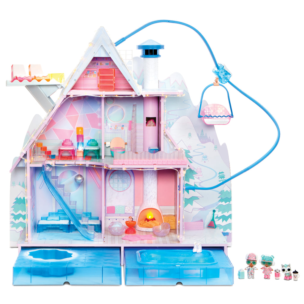 L.O.L. Surprise! Winter Disco Chalet Doll House with 95+ Surprises