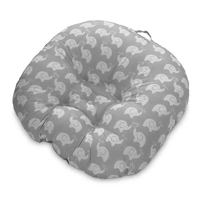 Boppy Elephant Love Newborn Lounger in Grey