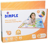 Dimple Kids Large Washable Coloring Play Mat with 'Bustling City Life' Design by Dimple