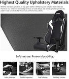 AKRacing Core Series SX Gaming Chair with High Backrest, Recliner, Swivel, Tilt, Rocker and Seat Height Adjustment Mechanisms - White