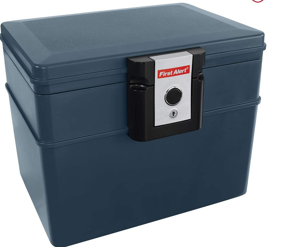 First Alert 0.59 Cu.Ft. Water and Fire Protector File Chest with Key Lock