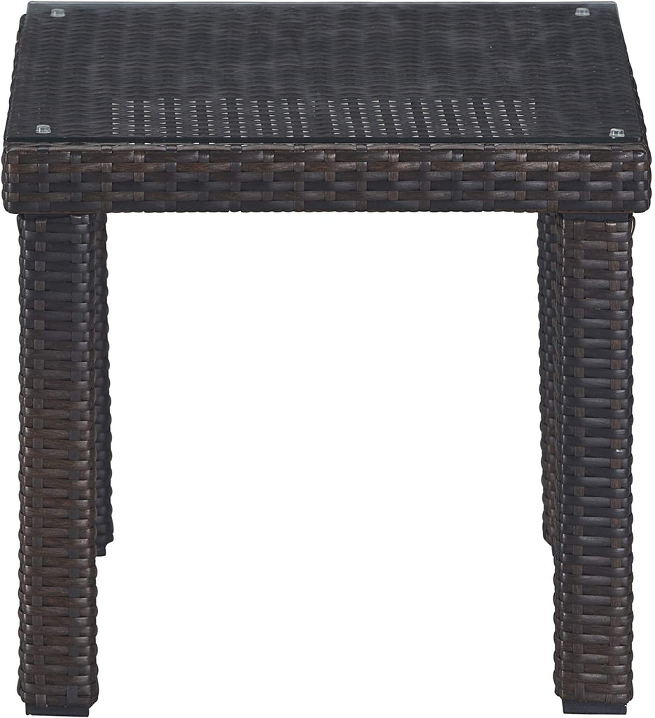 Tahoe Outdoor Side Table - Brown Wicker - Serta
