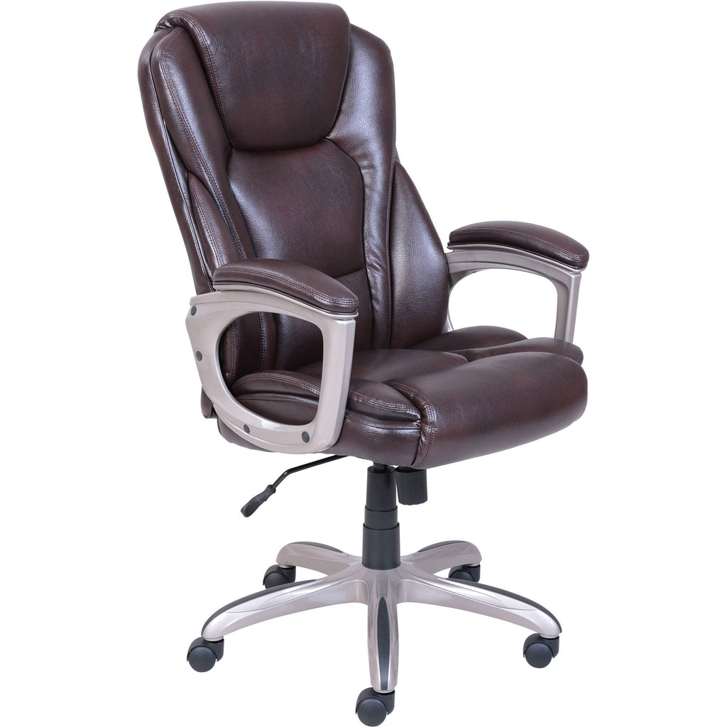 Serta Big & Tall Commercial Office Chair with Memory Foam, Brown