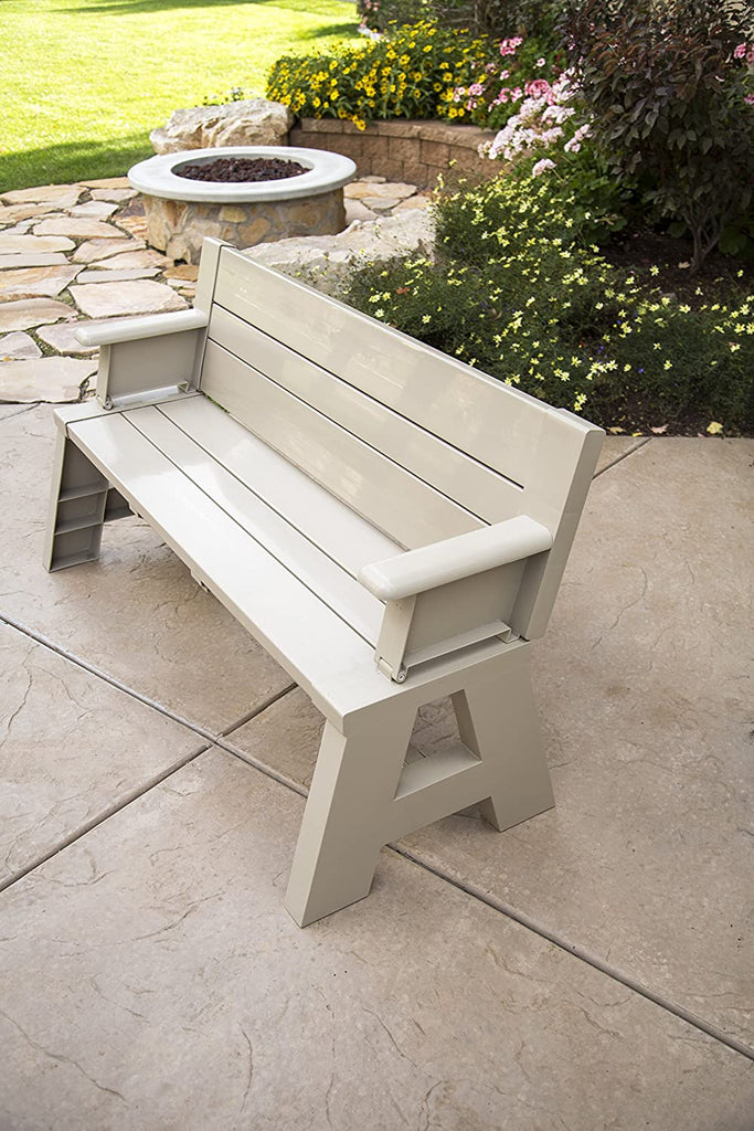 Convert-A-Bench Plastic Folding Picnic Table Bench