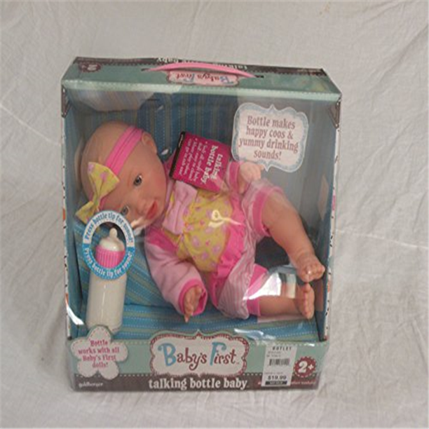 Babys First Classic Baby with Talking Bottle