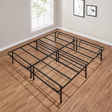 "Mainstays 14"" High Profile Foldable Steel Bed Frame, Powder-coated Steel, King"
