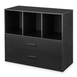 Mainstays 2-Drawer Dresser with 3 Open Cube Storage, Multiple Finishes
