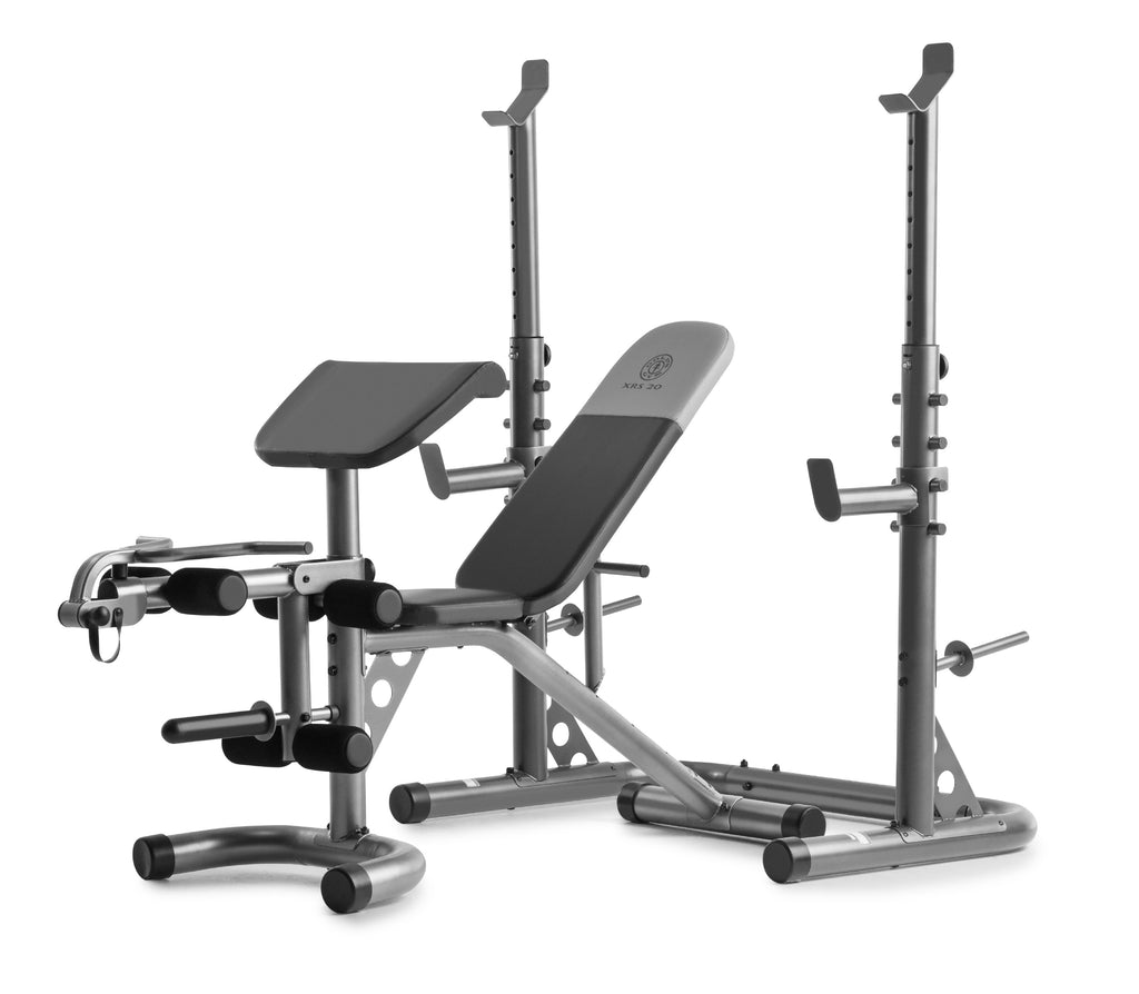 Gold's Gym XRS 20 Adjustable Olympic Workout Bench with Squat Rack