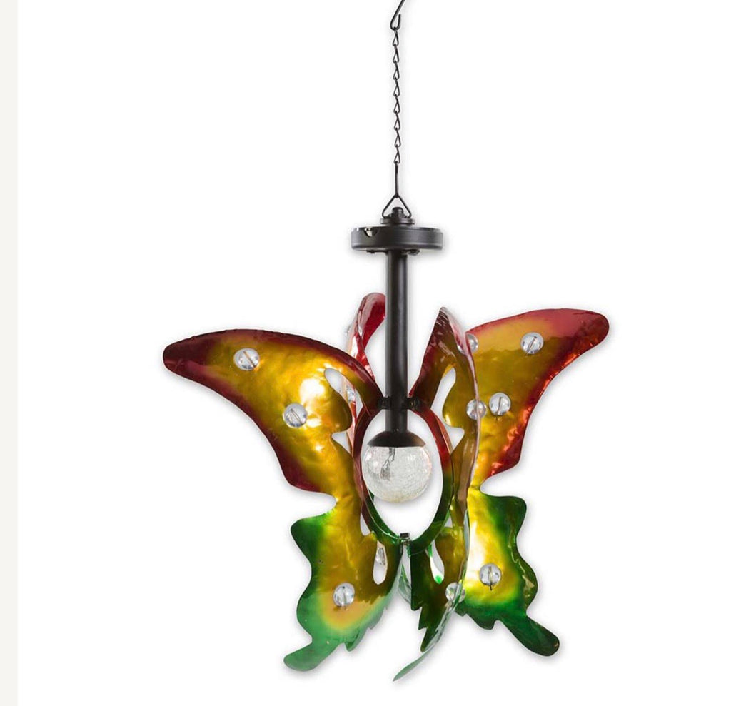 Hanging Butterfly Solar Spinner
