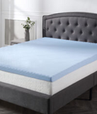 "Classic Brands Cool Cloud 3"" Gel Memory Foam Tri-Zone Mattress Topper, Queen"
