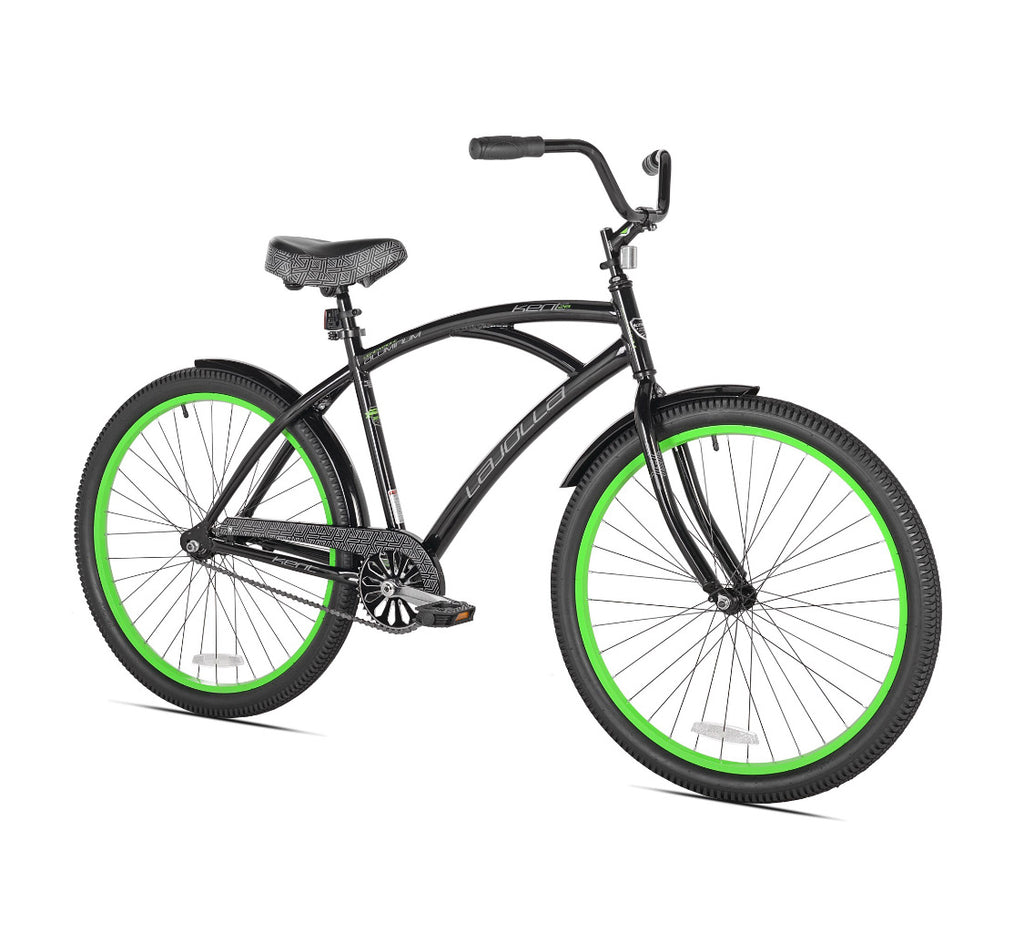 "Kent 26"" La Jolla Cruiser Men's Bike, Black/Green"