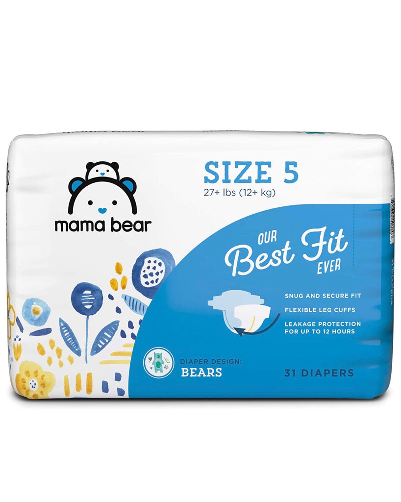 Mama Bear Best Fit Diapers Size 5, 31 Count, Bears Print
