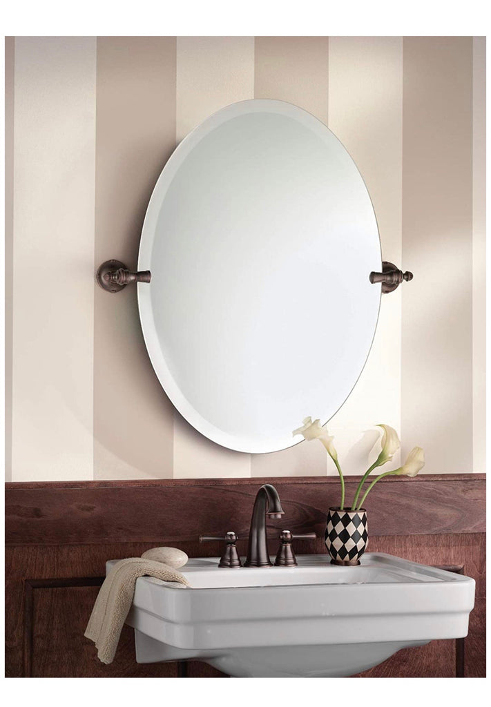 Moen Gilcrest 26-Inch x 23-Inch Frameless Pivoting Bathroom Tilting Mirror