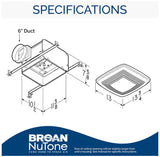 Broan Elite Quiet Ventilation Fan with Fluorescent Light and Night Light