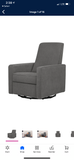 DaVinci Piper Recliner in Light Grey