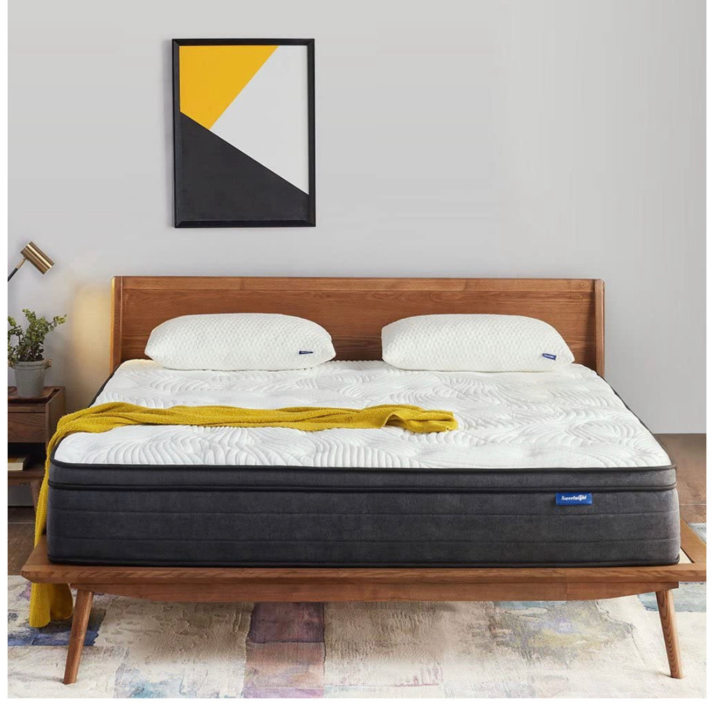 Sweetnight Queen Mattress in a Box - 12 Inch Plush Pillow Top Hybrid Mattress and Gel Memory Foam for Sleep Cool