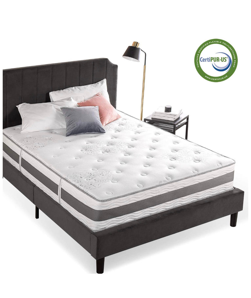 Zinus 12 Inch Gel-Infused Memory Foam Hybrid Mattress, King