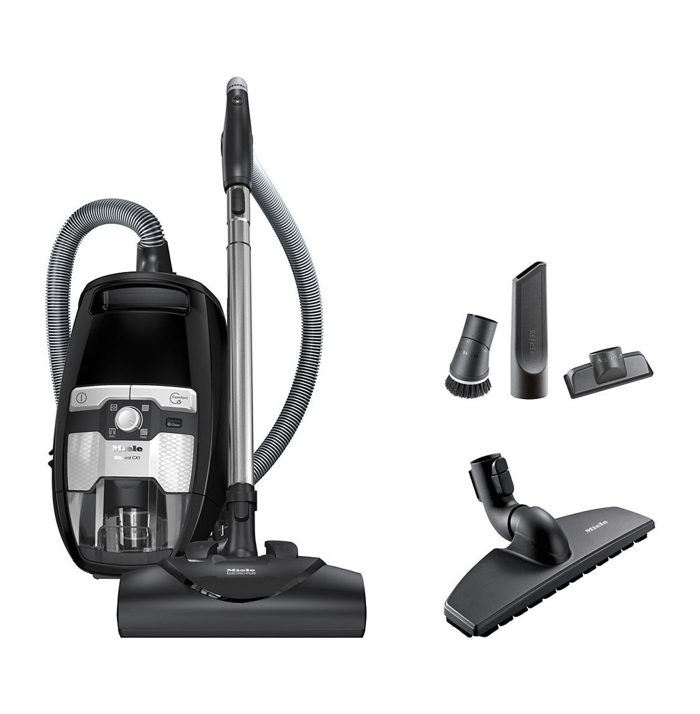 Miele Blizzard CX1 Electro+ Bagless Canister Vacuum in Black