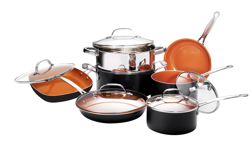 Gotham Steel 12 Piece Nonstick Ceramic Pots and Pans Cookware Set