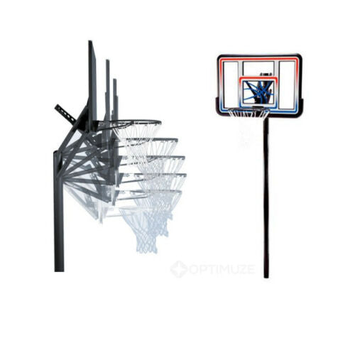 "Lifetime 1008 44"" In-Ground Basketball System Adjustable Height Acrylic Fusio"