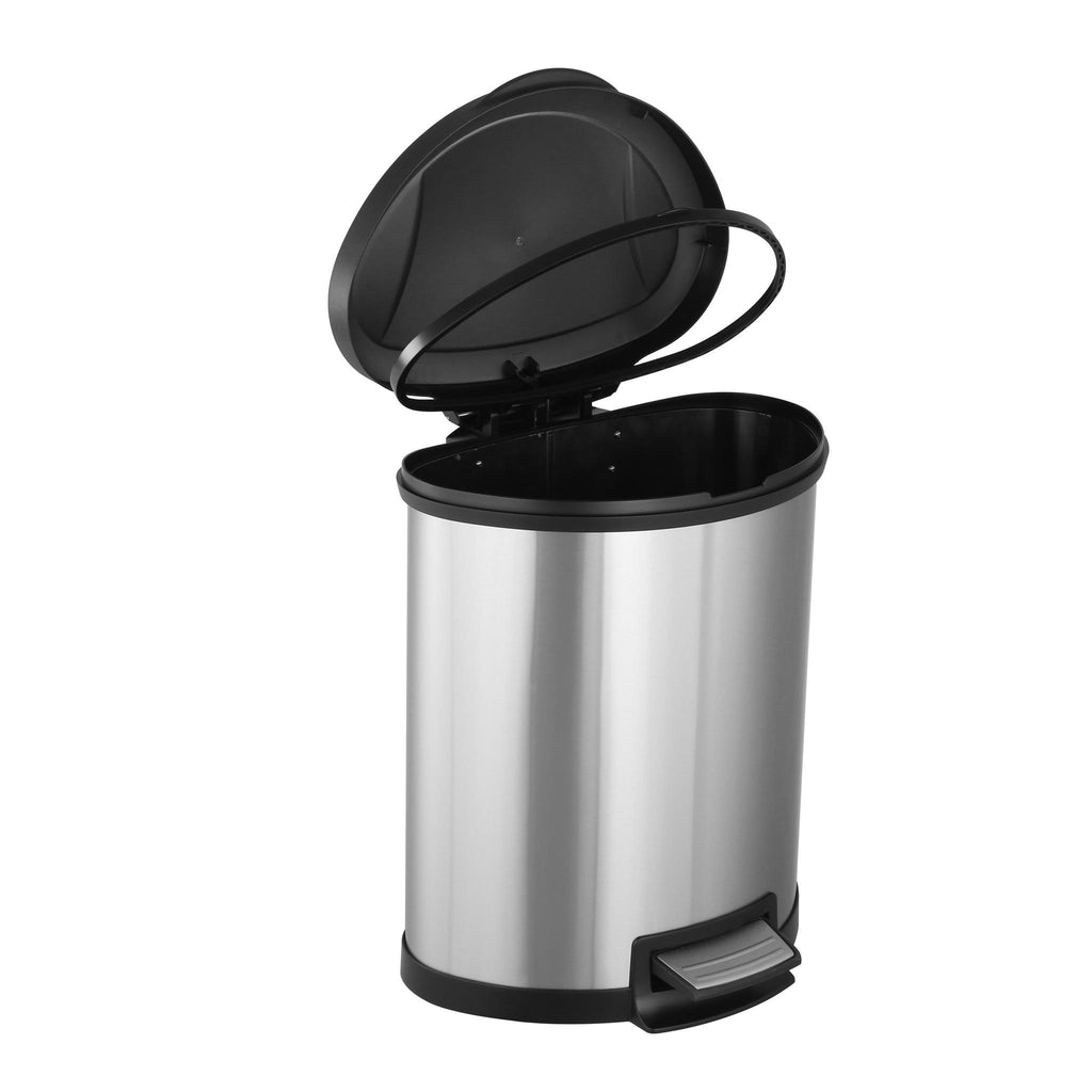 Mainstays 13G Stainless Steel Semi-Round Waste Can