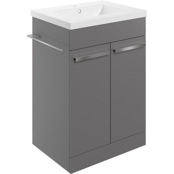 Morina 615mm Floor Standing Vanity Unit & Basin *choice of 3 colours*