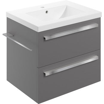 Morina 615mm Wall Hung Vanity Unit & Basin *choice of 3 colours*
