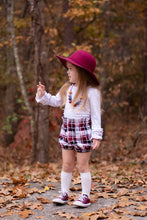 Load image into Gallery viewer, Deep Red/Black Plaid Flannel (Bloomers/Skirt)
