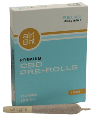 RELAX CBD pre-rolled hemp joints - alright™