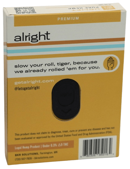 UPLIFT CBG pre-rolled hemp joints - alright™