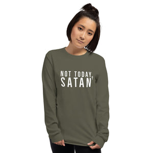 Not Today Satan- Men's Long Sleeve Shirt