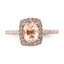 Load image into Gallery viewer, 14k Rose Gold Engagement Rings and Wedding Band Set